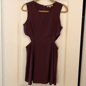 Maroon cutout dress